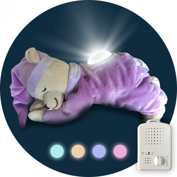 Medvedík Doodoo fiaľový svietiac